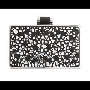 Lorenn Faux Leather Rhinestone Clutch Handbag